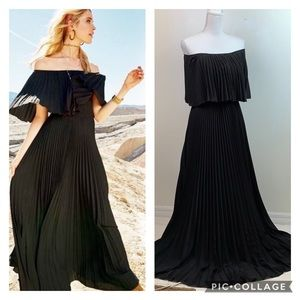 NEW Altar'd State pleated off shoulder maxi dress